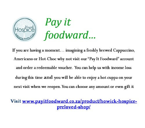 howick hospice pay it food ward