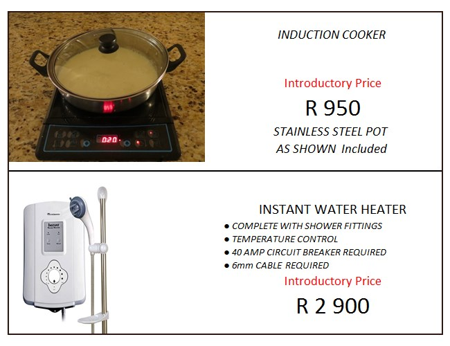 induction cooker and instant water heater specials harvard electrical