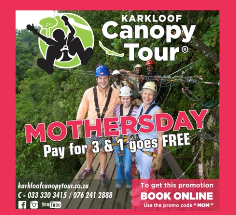 karkloof canopy tours mothers day